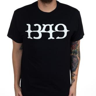 tričko pánské 1349 - White Logo - Black - INDIEMERCH, INDIEMERCH, 1349