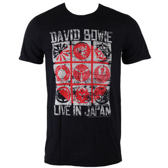 tričko pánské David Bowie - Live In Japan - Black - ROCK OFF, ROCK OFF, David Bowie