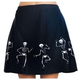 sukně dámská TOO FAST - Strode - Dancing Skeletons