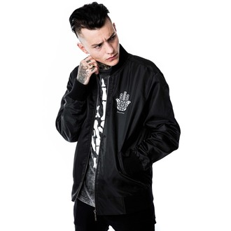 bunda (unisex) bomber KILLSTAR - Hamsa - Black, KILLSTAR