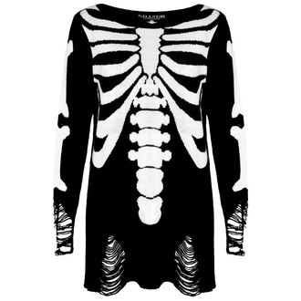 svetr (unisex) KILLSTAR - Skeletor - Black, KILLSTAR