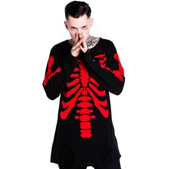 svetr (unisex) KILLSTAR - Skeletor - Red - KIL079