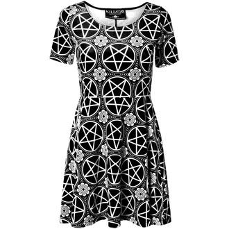 šaty dámské KILLSTAR - Pentagram Velvet - Black - KIL052