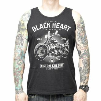tílko pánské BLACK HEART - MOTORCYCLE - BLACK - 9019