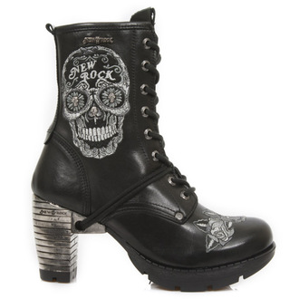 boty NEW ROCK -BORDADOS GRIS - NEGRO, NEW ROCK