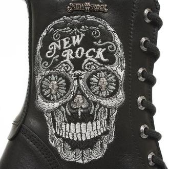 boty NEW ROCK -BORDADOS GRIS - NEGRO