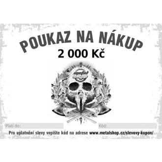 poukaz dárkový elektronický na 2000 Kč