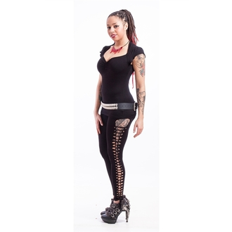 kalhoty dámské (legíny) NECESSARY EVIL - Terra Slashed - Black, NECESSARY EVIL