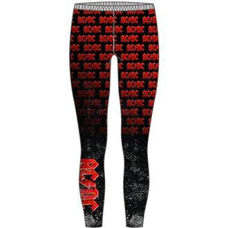 kalhoty dámské (legíny) AC/DC - Logo Repeat - ROCK OFF - ACDCLEG01