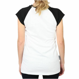 tričko dámské BLACK HEART - PIN UP SKULL - WHITE, BLACK HEART