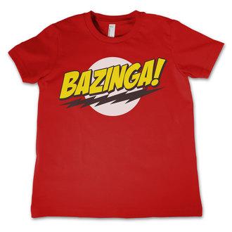 tričko dětské Teorie Velkého Třesku - Bazinga Super Logo - Red - HYBRIS