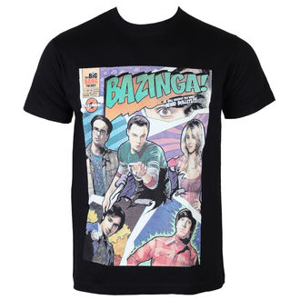 tričko pánské Teorie Velkého Třesku - Bazinga Comic Cover - Black - HYBRIS - WB12-TBBT017-H34-11