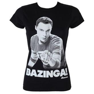 tričko dámské Teorie Velkého Třesku - Sheldon Says Bazinga - Black - HYBRIS - WB-5-TBBT010-H29-15-BK