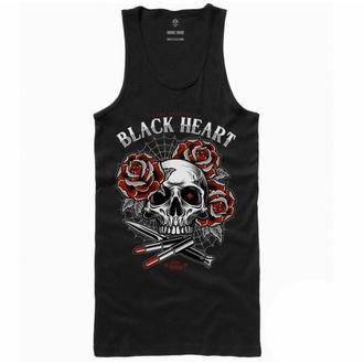 tílko dámské BLACK HEART -  LIPSTICK SKULL - BLACK, BLACK HEART