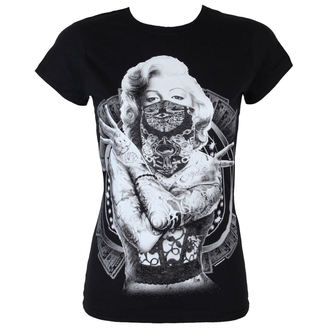 tričko dámské Marilyn Monroe - Outlaw - Black - HYBRIS - AB-5-18519-L27-BK