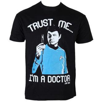 tričko pánské Star Trek - Trust Me-I´m A Doctor - Black - HYBRIS