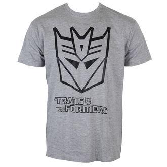 tričko pánské Transformers - Decepticon Logo - H. Grey - HYBRIS - HSB-1-TF004-H53-9