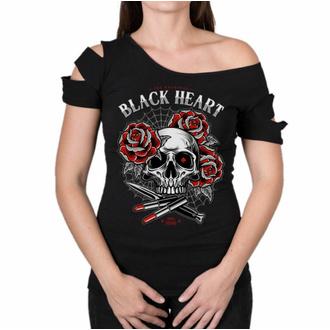 tričko dámské BLACK HEART - LIPSTICK SKULL DESTROY - RED, BLACK HEART