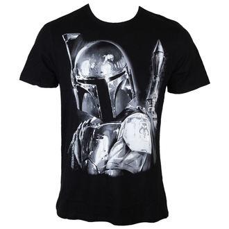 tričko pánské Star Wars - Boba Fett Silver Millar - Black - LEGEND - HSTTS1400