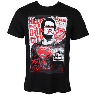 tričko pánské Batman vs. Superman - Superman Anti-Hero - Black - LEGEND - MEBVSSMTS016