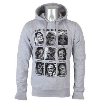 mikina pánská Star Wars - Expression Of a Wookie - Grey Melange - LEGEND - MESWCHESW003