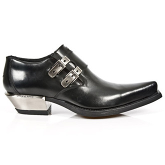 boty NEW ROCK - WEST NEGRO-ACERO TACON - M.7934-S1