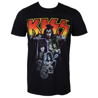 tričko pánské KISS - Neon Band - PLASTIC HEAD, PLASTIC HEAD, Kiss