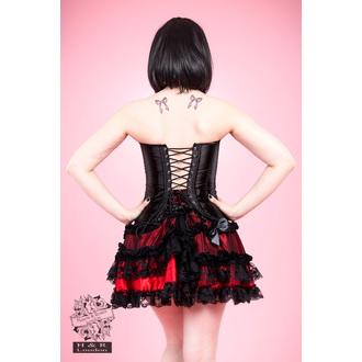korzet dámský HEARTS AND ROSES - Black Satin - 808bsc