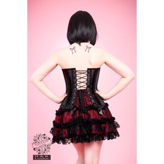 korzet dámský HEARTS AND ROSES - Black Lace