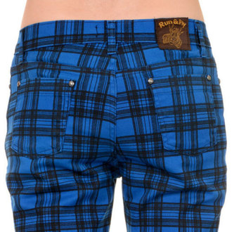 kalhoty (unisex) 3RDAND56th - Checked - Black/Royal