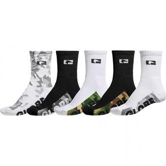 ponožky GLOBE - Malcom Crew - Camo, GLOBE