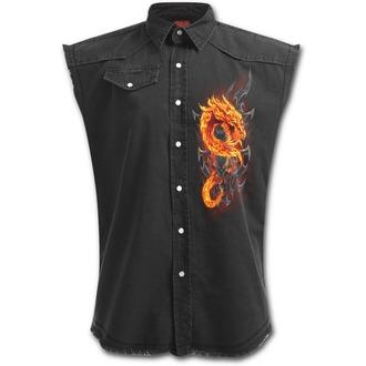 košile pánská bez rukávů SPIRAL - Fire Dragon, SPIRAL