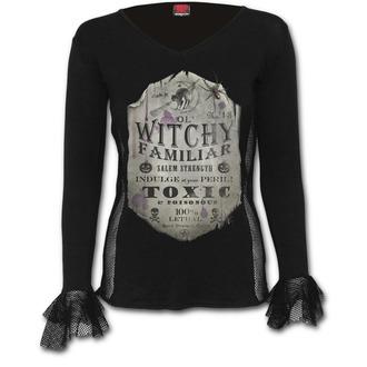 tričko dámské s dlouhým rukávem SPIRAL - Witchy Familiar - D065F450