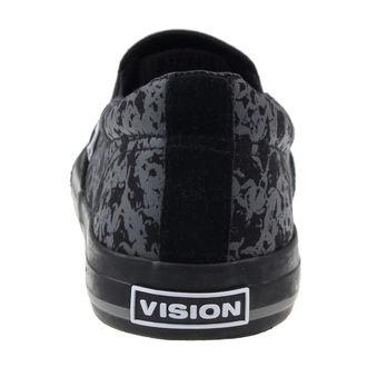 boty VISION - Slip-On - Charcoal/Skulls