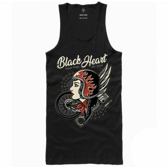 tílko dámské BLACK HEART - MOTORCYCLE GIRL - BLACK, BLACK HEART