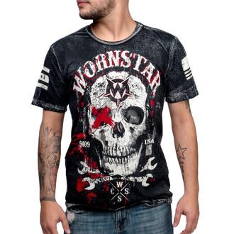 tričko pánské WORNSTAR - Death Mechanic - Grey - WSTM-DMEC
