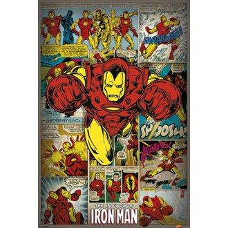 plakát Marvel Comics - Iron Man Retro - PYRAMID POSTERS