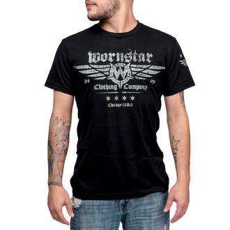 tričko pánské WORNSTAR - Machine Shop - Black - WSUS-MACS