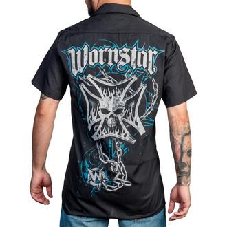 košile pánská WORNSTAR - Iron Cross - Black, WORNSTAR