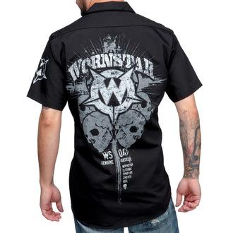 košile pánská WORNSTAR - Cross - Black, WORNSTAR