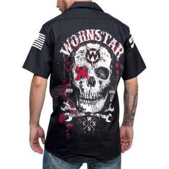 košile pánská WORNSTAR - Death Mechanic - Black, WORNSTAR