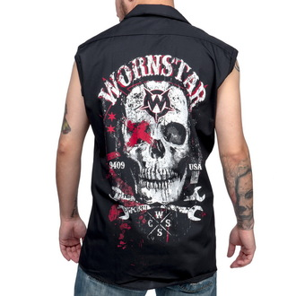 košile pánská bez rukávů WORNSTAR - Death Mechanic - Black, WORNSTAR