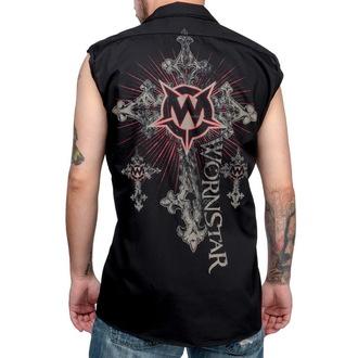 košile pánská bez rukávů WORNSTAR - Sacred - Black, WORNSTAR