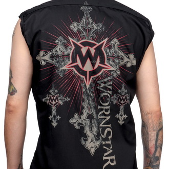 košile pánská bez rukávů WORNSTAR - Sacred - Black
