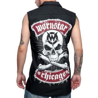 košile pánská bez rukávů WORNSTAR - Skull - Black, WORNSTAR