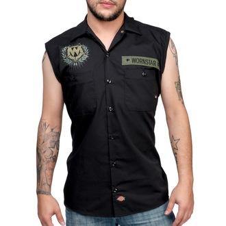 košile pánská bez rukávů WORNSTAR - SGT - Black - WSV-SGT