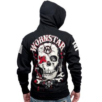 mikina pánská WORNSTAR - Death Mechanic - Black, WORNSTAR