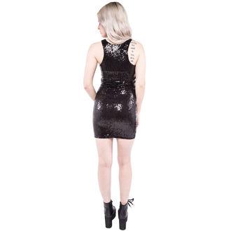 šaty dámské IRON FIST - Eye´ll Eat You Sequin - Black