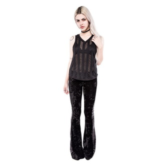 tílko dámské IRON FIST - Patti V Neck Slouchy Vest - Black, IRON FIST