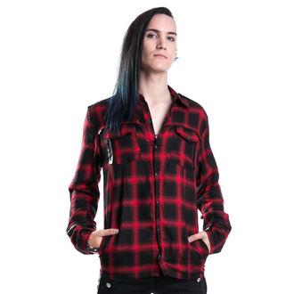 košile pánská VIXXSIN - Corner Shirt - Red - POI087